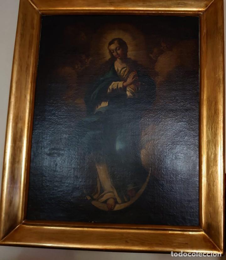 Arte: ÓLEO SOBRE LIENZO INMACULADA CONCEPCIÓN SIGLO XVII - Foto 24 - 188788421