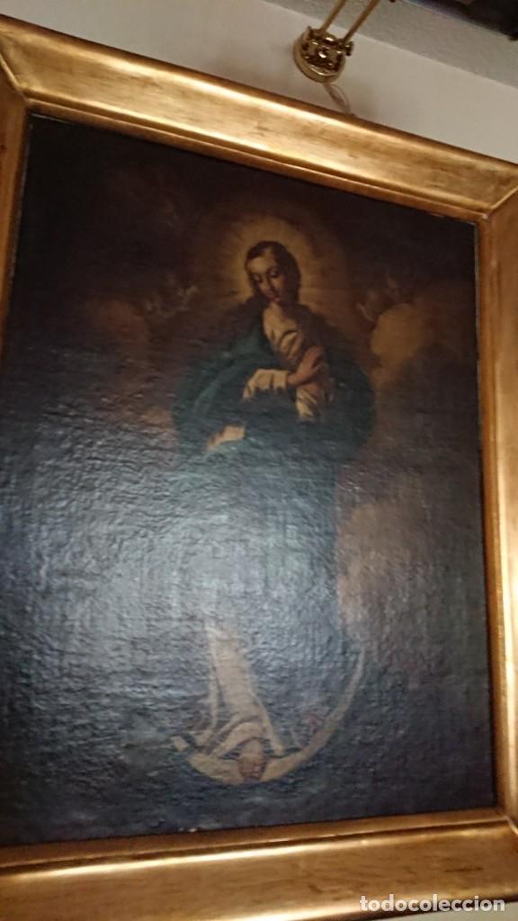 Arte: ÓLEO SOBRE LIENZO INMACULADA CONCEPCIÓN SIGLO XVII - Foto 25 - 188788421
