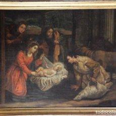 Arte: ADORACIÓN DE LOS PASTORES. ÓLEO SOBRE LIENZO. ESC. ESPAÑOLA, SIGLOS XVII-XVIII. MED: 92 X 71 CM.. Lote 188837271
