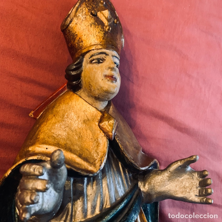 Arte: Talla de obispo san Blas o San Nicolás - Foto 6 - 189087206