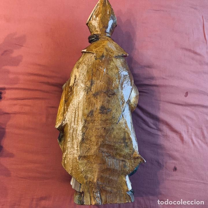 Arte: Talla de obispo san Blas o San Nicolás - Foto 7 - 189087206