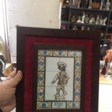 Arte: ANTIGUO CUADRO DE BALDOSAS EL FUNDADOR SR. ENRIC PERPIÑÀ SAURA DE LA ANTIGUA DE SANT MEDIR 1861. Lote 189205057