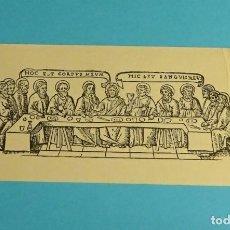 Arte: XILOGRAFÍA. ESTAMPA CONMEMORATIVA ORDENACIÓN SACERDOTAL. BENIMACLET 1968. FORMATO 7,5 X 15,5 CM. Lote 189303551