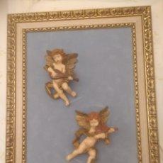 Arte: ANTIGUO CUADRO ANGELES QUERUBINES RELIEVE ESCAYOLA. Lote 189305352