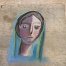 Arte: ORIGINAL. PINTURA EN RETABLO VIRGEN. MEDIDAS 40 X 35. Lote 189341912