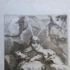 Arte: GRABADO ANTIGUA SIGLO 17° - MOISÉS Y LOS 10 MANDAMIENTOS. Lote 189342540