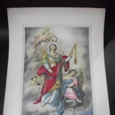 Arte: SIGLO XIX SANTA CONCORDIA MARTIR MADRE DE LECHE SAN HIPOLTO ABOGADA CAMINANTES LIT. PASCUAL VALENCIA. Lote 189353531