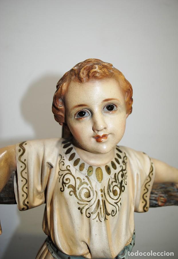 Arte: ANTIGUA FIGURA O IMAGEN RELIGIOSA NIÑO JESÚS SOBRE LA CRUZ - Foto 3 - 189354903