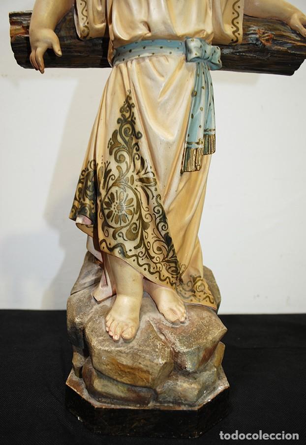 Arte: ANTIGUA FIGURA O IMAGEN RELIGIOSA NIÑO JESÚS SOBRE LA CRUZ - Foto 5 - 189354903