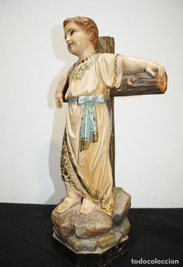 Arte: ANTIGUA FIGURA O IMAGEN RELIGIOSA NIÑO JESÚS SOBRE LA CRUZ - Foto 6 - 189354903