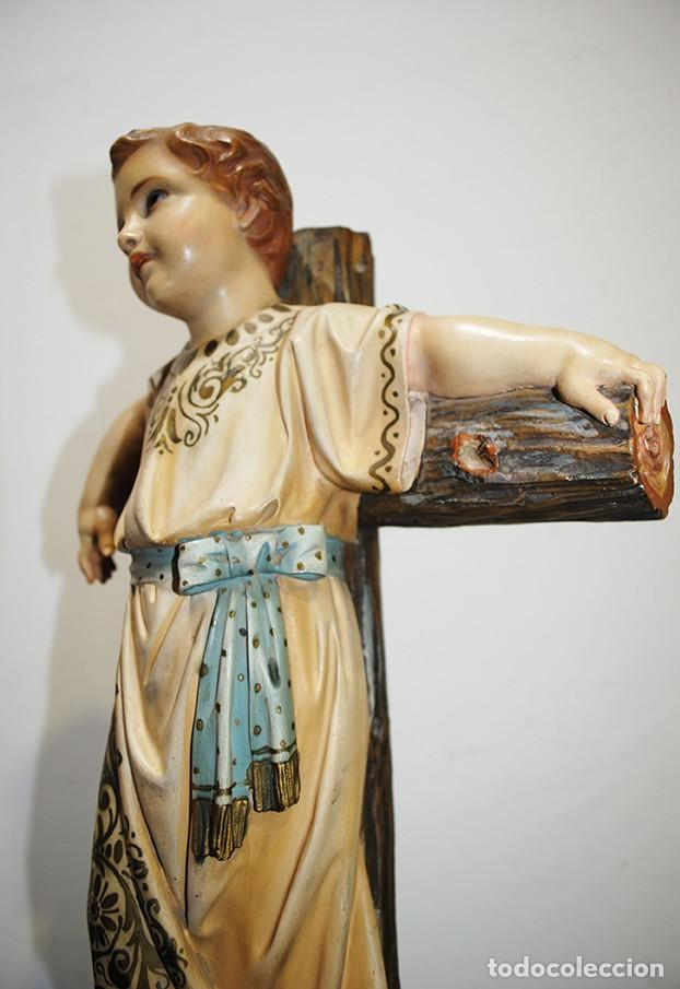 Arte: ANTIGUA FIGURA O IMAGEN RELIGIOSA NIÑO JESÚS SOBRE LA CRUZ - Foto 7 - 189354903