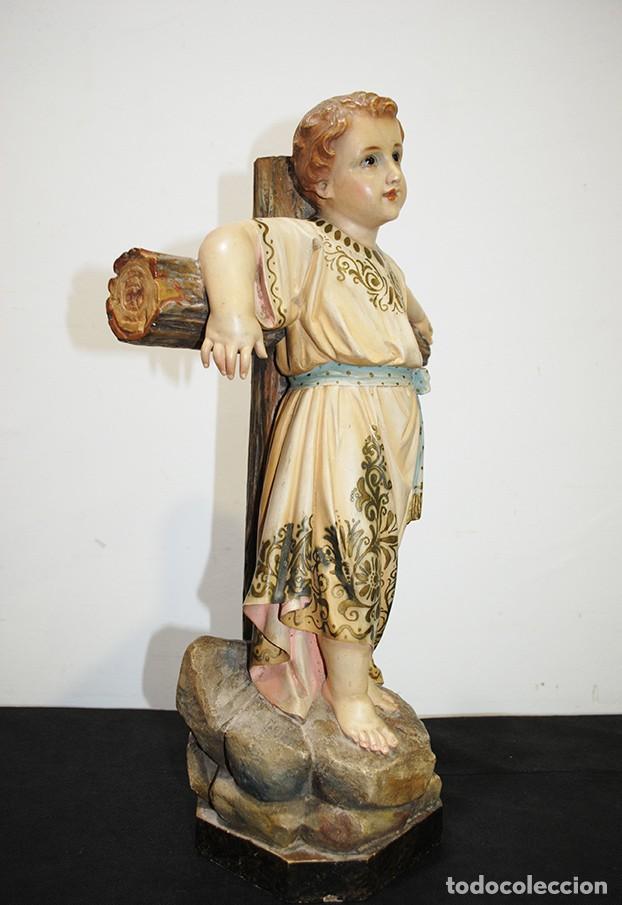 Arte: ANTIGUA FIGURA O IMAGEN RELIGIOSA NIÑO JESÚS SOBRE LA CRUZ - Foto 8 - 189354903