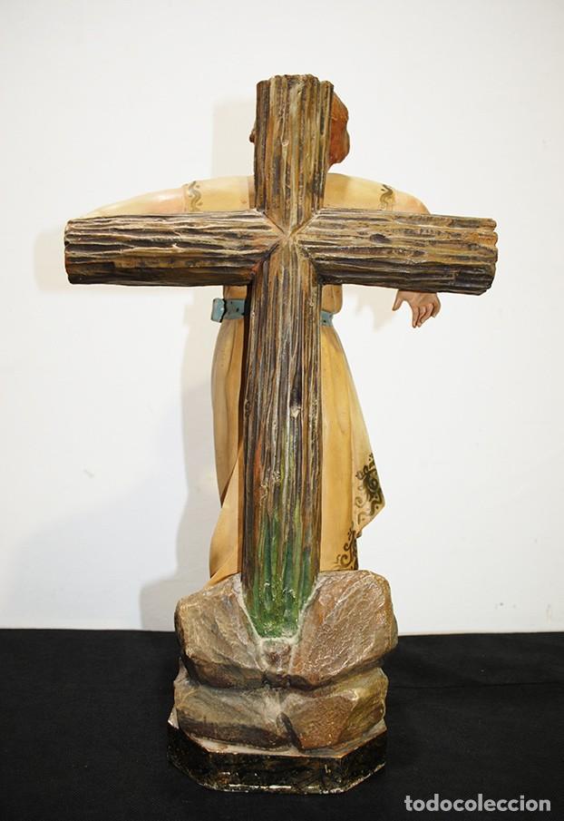 Arte: ANTIGUA FIGURA O IMAGEN RELIGIOSA NIÑO JESÚS SOBRE LA CRUZ - Foto 10 - 189354903