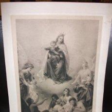 Arte: SIGLO XIX VIRGEN DE MONTE CARMELO - RELIGION - IMPRESO EN ZURICH SUIZA. Lote 189357492