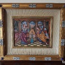 Arte: MODEST MORATO OJER, MAGNIFICO CUADRO, ANUNCIACION, ESMALTE A FUEGO, ALTA COLECCIÓN. . Lote 189404895