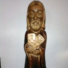 Arte: TALLA RELIGIOSA DE MADERA MACIZA.. Lote 189408047