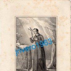 Arte: LITOGRAFIA DEL SIGLO XIX, SAN LUIS GONZAGA, LIT.BACHILLER, 16X21 CMS. Lote 189431737
