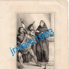 Arte: LITOGRAFIA DEL SIGLO XIX, SAN JUAN DE SAHAGUN, LIT.BACHILLER, 16X21 CMS. Lote 189431936