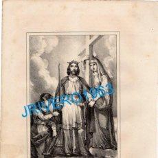 Arte: LITOGRAFIA DEL SIGLO XIX, SAN ENRIQUE EMPERADOR, LIT.BACHILLER, 16X21 CMS. Lote 189432077