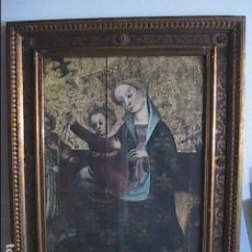 Arte: EXCELENTE ILUSTRACIÓN S.XV. GÓTICO CATALÁN.VIRGEN Y NIÑO CON ÁNGELES MÚSICOS.JAUME CABRERA.. Lote 189482572