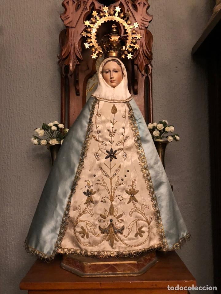 IMAGEN DE LA VIRGEN DE CAP Y POTA. (Arte - Arte Religioso - Escultura)