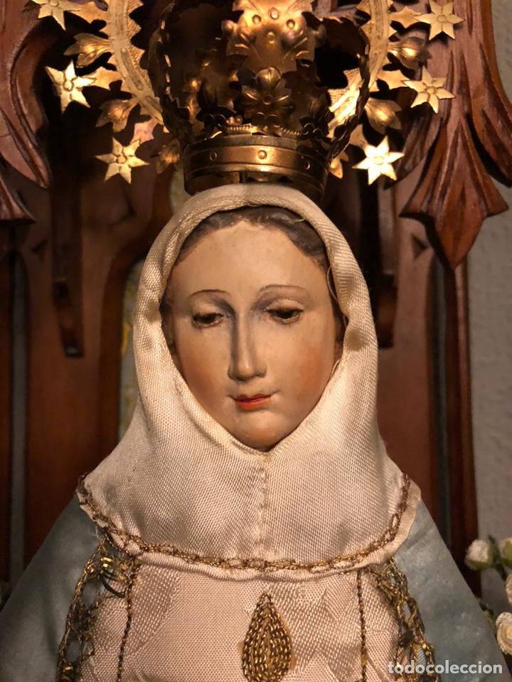 Arte: Imagen de la Virgen de cap y pota. - Foto 3 - 182319911