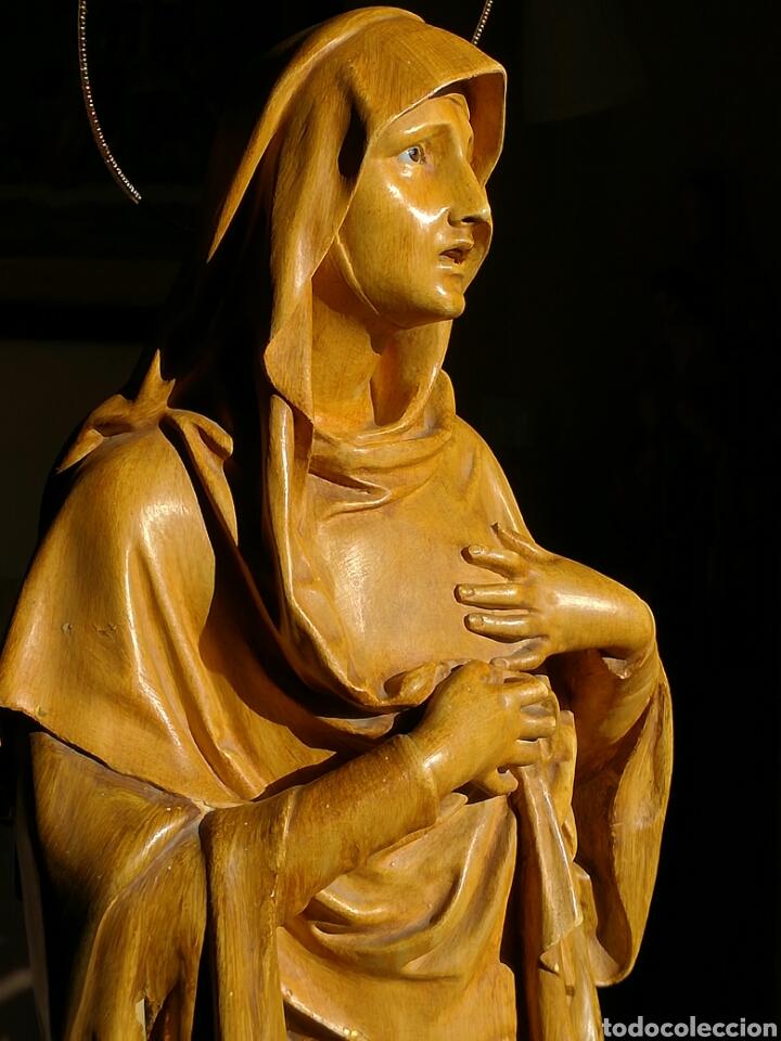 MAGNÍFICA DOLOROSA PASTA DE MADERA OLOT GRANDES MEDIDAS (Arte - Arte Religioso - Escultura)