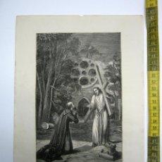 Arte: SAN IGNACIO DE LOYOLA . 31 DE JULIO - ESTAMPA TIPO GRABADO - 29 X 20 CM. Lote 189581660