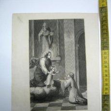 Arte: SANTA CLARA DE MONTEFALCO VIRGEN 17 DE AGOSTO - ESTAMPA TIPO GRABADO - 29 X 20 CM. Lote 189582692
