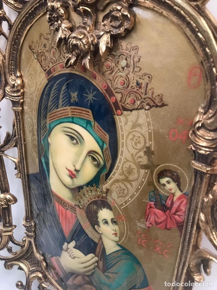 Arte: Antiguo cuadro esmaltado estilo gótico gran tamaño - Foto 2 - 189595557