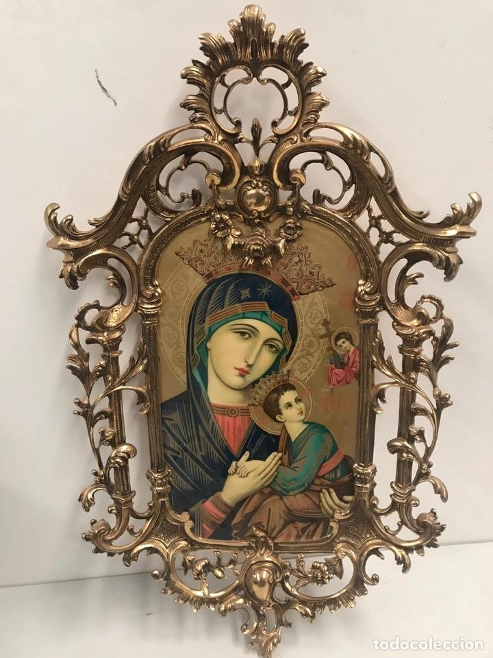 Arte: Antiguo cuadro esmaltado estilo gótico gran tamaño - Foto 3 - 189595557