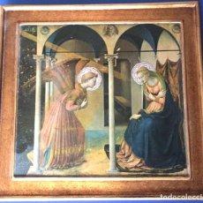 Arte: CUADRO DE LA ANUNCIACIÓN A LA VIRGEN MARÍA REPRODUCCIÓN DE LA OBRA DE FRA ANGELICO MEDIDAS VER FOTO. Lote 189603948