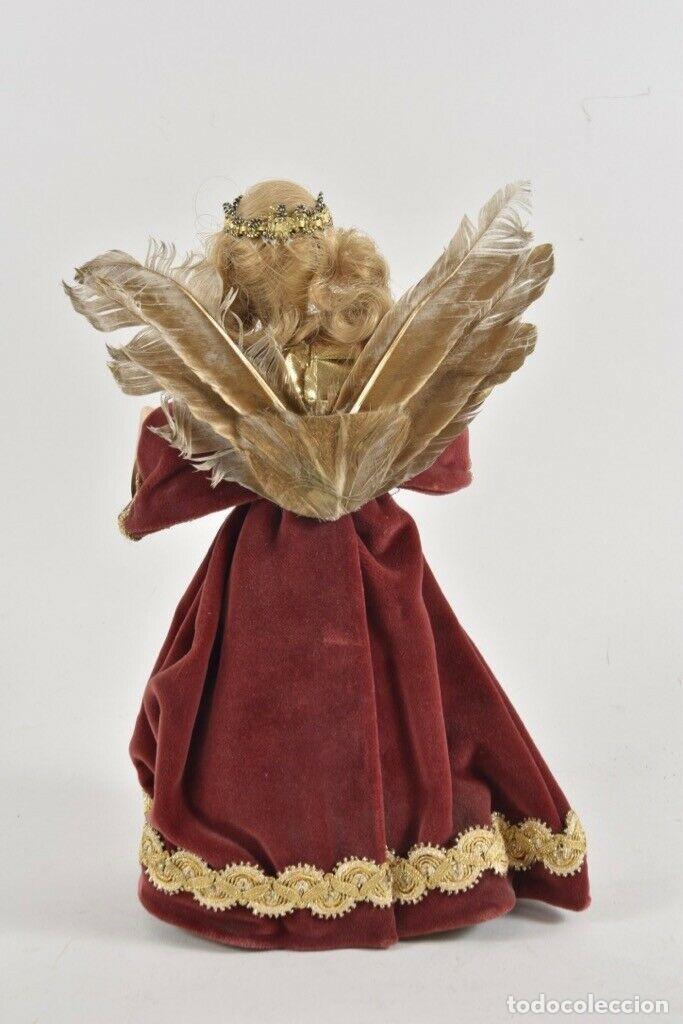 Arte: PRECIOSA FIGURA HADA MADRINA FIESTAS O ANGEL ANUNCIADOR CABEZA EN CERA 28 cm IDEAL PARA FANAL 143,00 - Foto 7 - 189621470