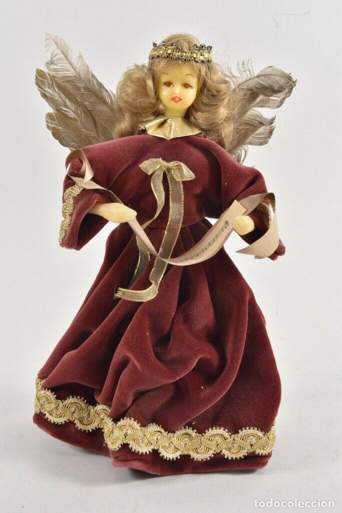 PRECIOSA FIGURA HADA MADRINA FIESTAS O ANGEL ANUNCIADOR CABEZA EN CERA 28 CM IDEAL PARA FANAL 143,00 (Arte - Arte Religioso - Escultura)