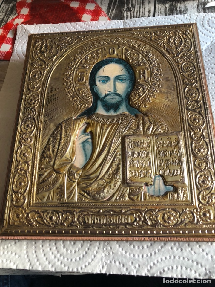 BONITO ICONO EN PLATA DE LEY DORADA (Arte - Arte Religioso - Iconos)