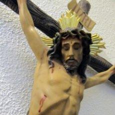 Arte: ANTIGUO CRISTO CRUCIFICADO GRAN TAMAÑO CRUZ: 72 CM. DE MANOS A PIES: 39 CM. JESUS JESUCRISTO. Lote 189642475