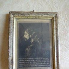 Arte: ANTIGUO CUADRO GRABADO CON LAMINA RELIGIOSA VERDADERA IMAGEN DE JESUCRISTO SIGLO XVIII. Lote 26510898