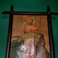 Arte: ANTIGUA LITOGRAFIA COLOR SAN RAMON NONATO FF.SG.XIX. ENMARCADA. Lote 189690008