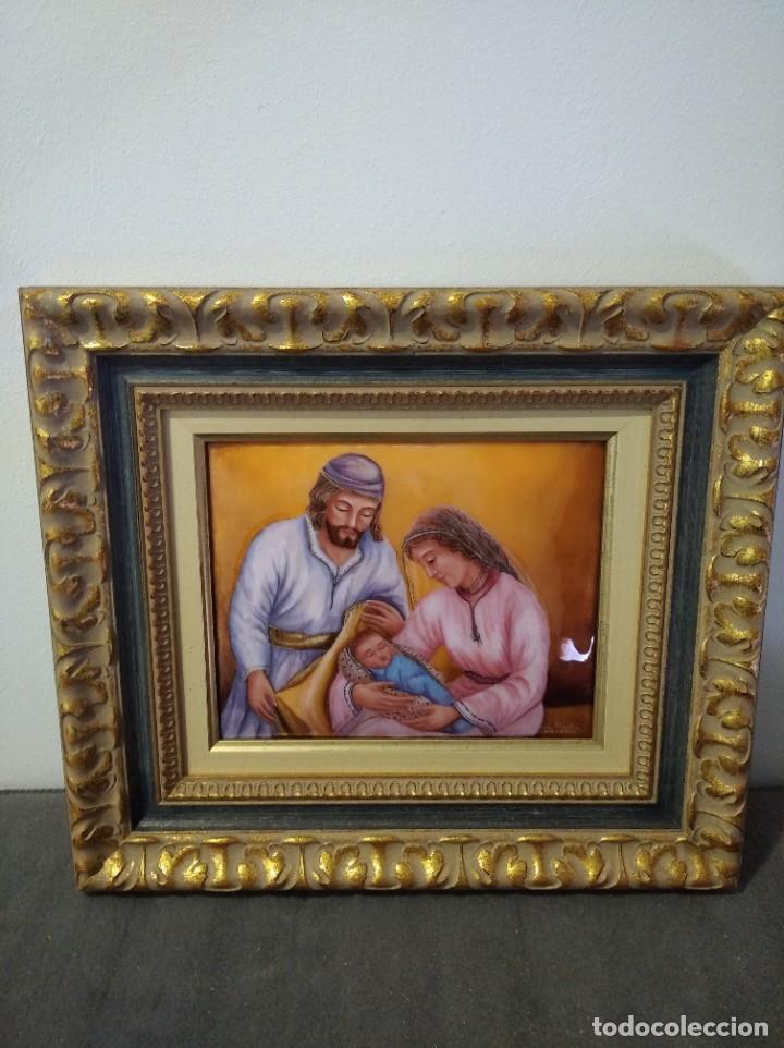 NACIMIENTO DE JESÚS 38*43 - ORO DE LEY LIQUIDO - ESMALTE AL FUEGO - SOR PAULA MARTIN (Arte - Arte Religioso - Pintura Religiosa - Otros)