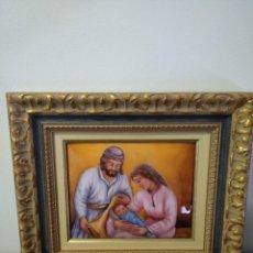 Arte: NACIMIENTO DE JESÚS 38*43 - ORO DE LEY LIQUIDO - ESMALTE AL FUEGO - SOR PAULA MARTIN. Lote 189714992