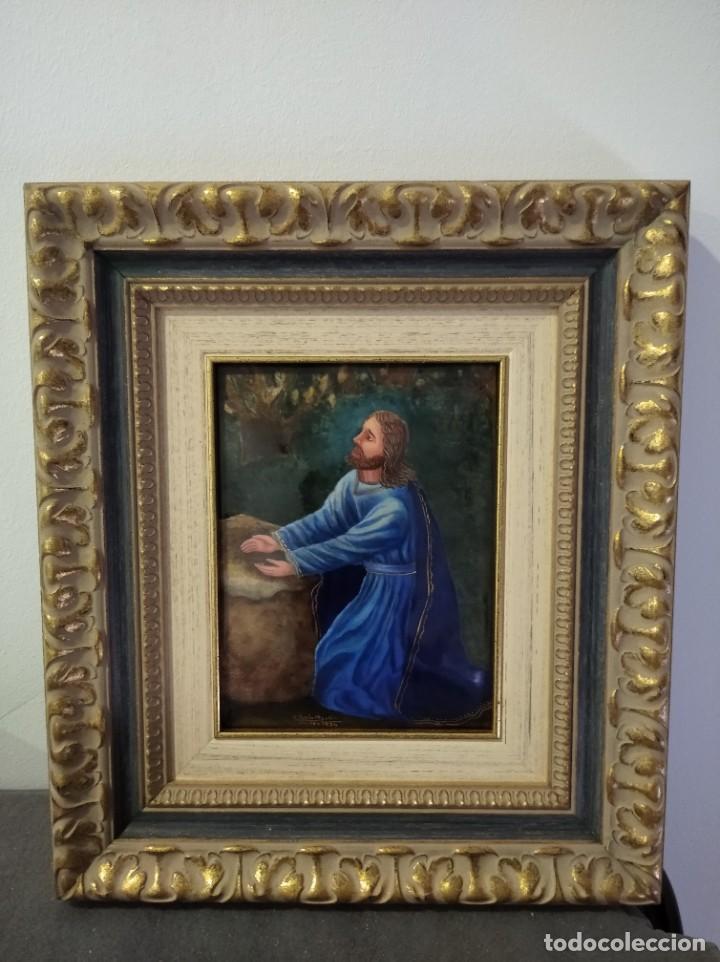 Arte: CRISTO ARRODILLADO 39*44 - ORO DE LEY LIQUIDO - ESMALTE AL FUEGO - SOR PAULA MARTIN - Foto 3 - 189715165