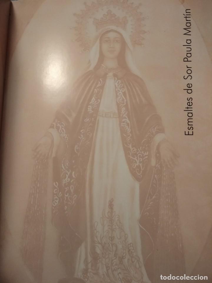 Arte: VIRGEN MARIA Y NIÑO JESÚS 32*37 - ORO DE LEY LIQUIDO - ESMALTE AL FUEGO - SOR PAULA MARTIN - Foto 2 - 189715347
