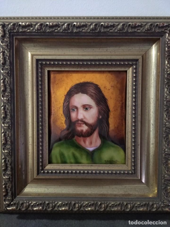 ROSTRO DE CRISTO 38*40 - ORO DE LEY LIQUIDO - ESMALTE AL FUEGO - SOR PAULA MARTIN (Arte - Arte Religioso - Pintura Religiosa - Otros)