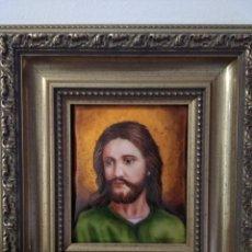 Arte: ROSTRO DE CRISTO 38*40 - ORO DE LEY LIQUIDO - ESMALTE AL FUEGO - SOR PAULA MARTIN . Lote 189715567