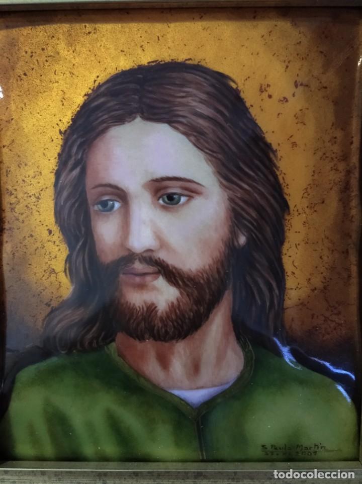 Arte: ROSTRO DE CRISTO 38*40 - ORO DE LEY LIQUIDO - ESMALTE AL FUEGO - SOR PAULA MARTIN - Foto 2 - 189715567