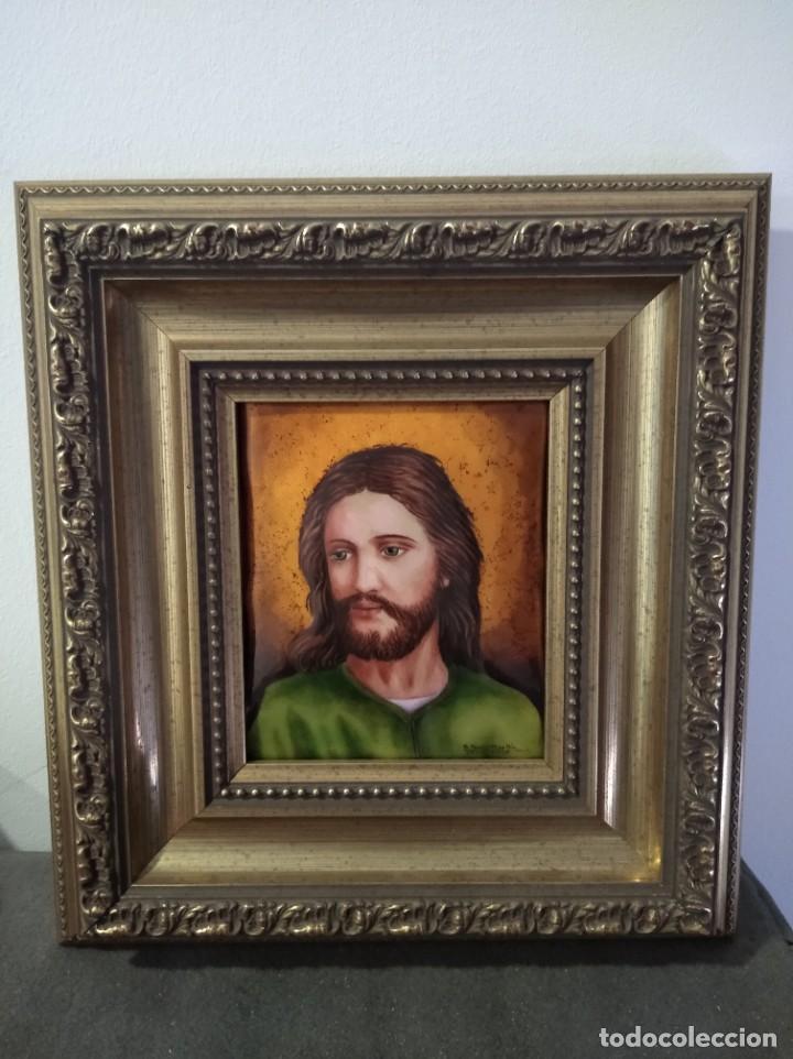 Arte: ROSTRO DE CRISTO 38*40 - ORO DE LEY LIQUIDO - ESMALTE AL FUEGO - SOR PAULA MARTIN - Foto 5 - 189715567