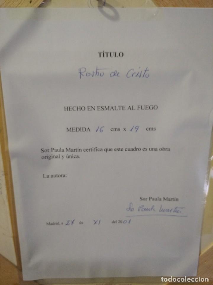 Arte: ROSTRO DE CRISTO 38*40 - ORO DE LEY LIQUIDO - ESMALTE AL FUEGO - SOR PAULA MARTIN - Foto 7 - 189715567