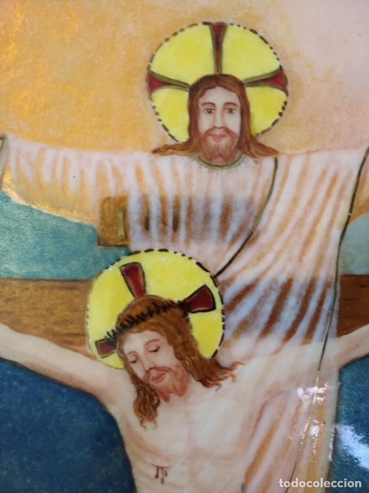Arte: CRISTOS CRUCIFICADOS 41*48 - ORO DE LEY LIQUIDO - ESMALTE AL FUEGO - SOR PAULA MARTIN - Foto 7 - 189715596