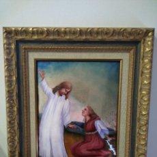 Arte: CRISTO RESUCITADO CON MARIA MAGDALENA 48*57 - ORO DE LEY LIQUIDO - ESMALTE AL FUEGO - SOR PAULA MART. Lote 189715770