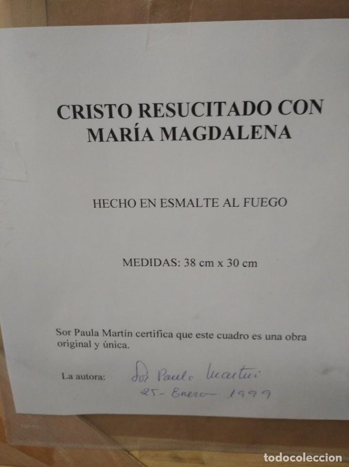 Arte: CRISTO RESUCITADO CON MARIA MAGDALENA 48*57 - ORO DE LEY LIQUIDO - ESMALTE AL FUEGO - SOR PAULA MART - Foto 2 - 189715770